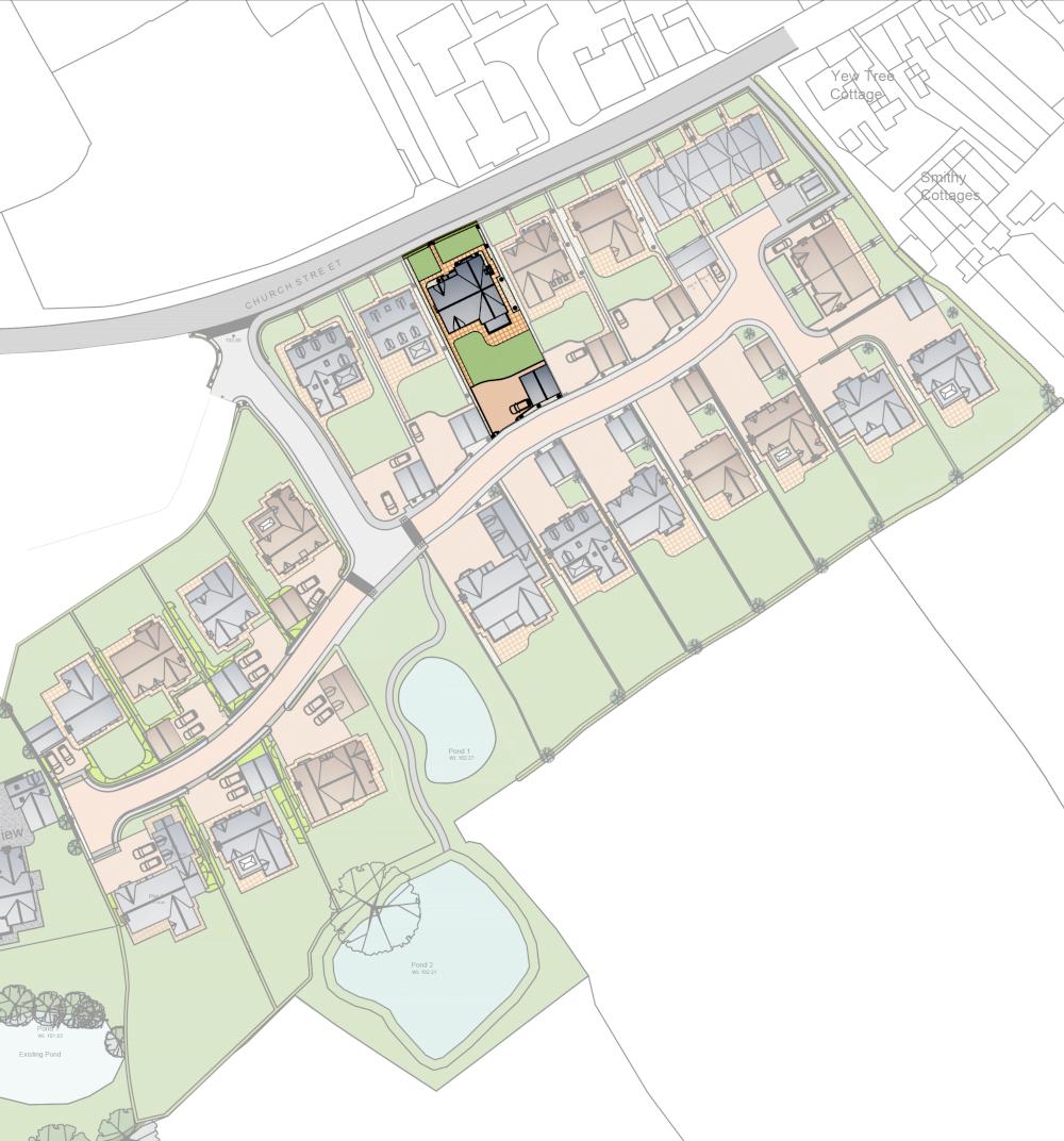 Site plan : Campion House : Mount View : Malpas
