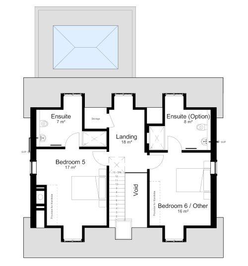 Floorplan, Chamberlain House, Malpas