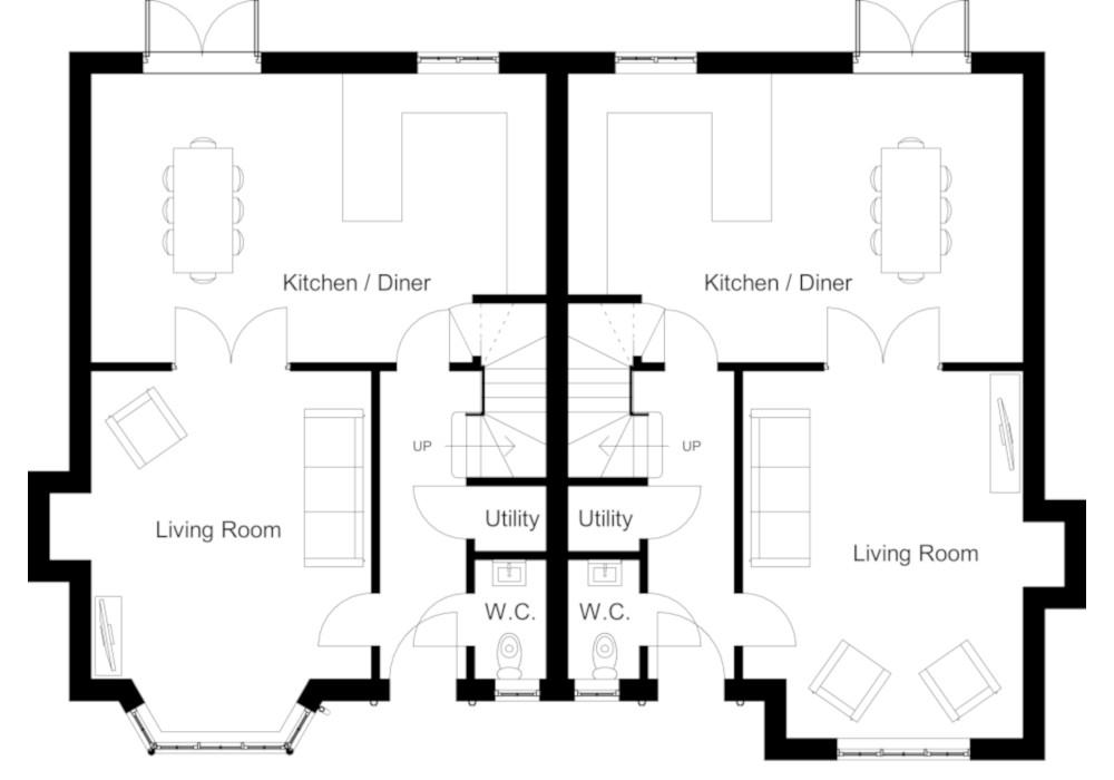 Plot 18 & 19 Floorplan : Mount View Malpas
